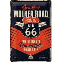 Plaque métal route 66 20 x 30