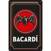 Plaque métal rhum Bacardi 20 x 30