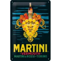 Plaque métal Martini Vermouth 20 x 30