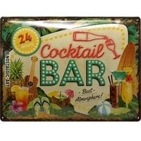 Plaque métal Cocktail Bar 40 x 30