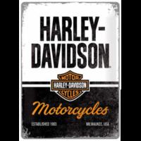 Plaque métal Harley Vintage 30 x 40
