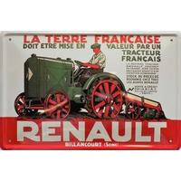 Plaque métal Tracteur Renault