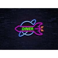 Enseigne néon Diner Rocket