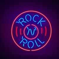 Enseigne néon Rock'n roll