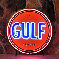 Enseigne néon Gulf