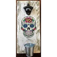 Décapsuleur mural Skull