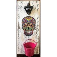 Décapsuleur mural Skull mexicain