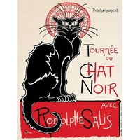 Plaque métal Chat Noir