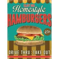 Plaque déco hamburger