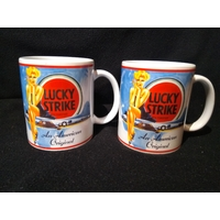 Lot de 2 mugs Lucky strike