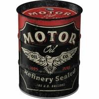 Boite tirelire baril Motor oil