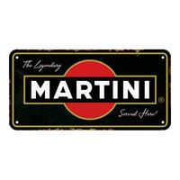 Plaque Martini 20 x 10