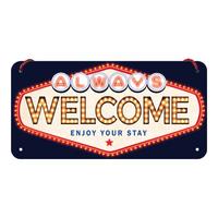 Plaque à suspendre Welcome 20x10