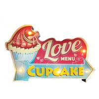 Enseigne lumineuse love cupcake