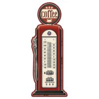 Thermomètre vintage pompe à essence Coffee