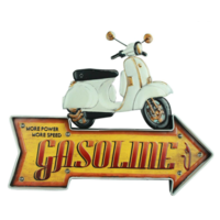 Enseigne lumineuse Scooter gasoline