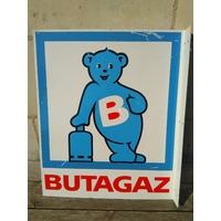 Plaque publicitaire Butagaz