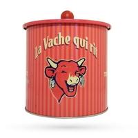 Boite vintage La vache qui rit rouge
