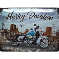 Plaque Harley Born to ride