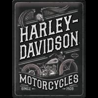 Plaque déco Harley Davidson 30x40