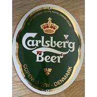 Plaque émaillée publicitaire bière Carlsberg