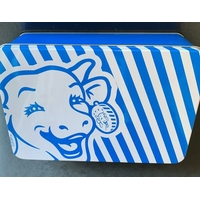 Boite à sucre La vache qui rit bleue zebra