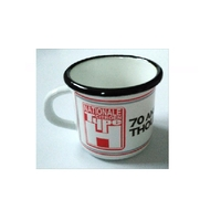 Lot de 6 mugs émaillés Citroen type H