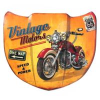 Plaque métal capot vintage motors