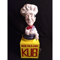 Figurine publicitaire en plâtre Bouillon Kub