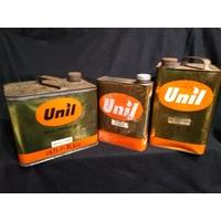 Lot de 3 bidons à huile Unil