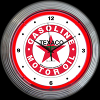 Horloge néon Texaco