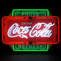 Enseigne néon Coca-cola