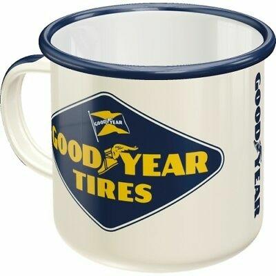 GOODYEAR original Emaille Tasse Mug