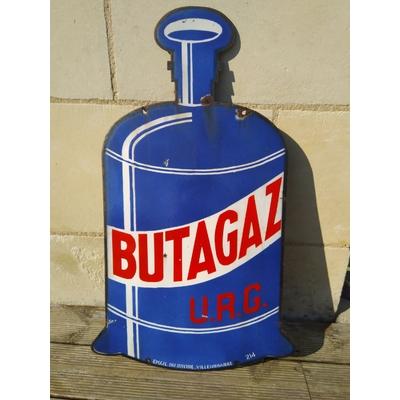 plaque émaillée butagaz kub vintage publicité
