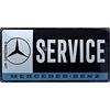 Plaque métal Mercedes service 25 x 50