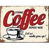 Plaque métal vintage coffee 30 x 20