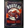 Plaque métal Route 66 motor oil 20 x 30