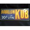 Plaque émaillée bouillon Kub