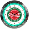 Horloge néon Coca-cola
