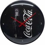 Horloge coca cola noire collection vintage rétro