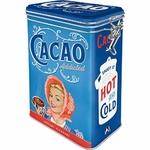 boite métal hermétique vintage rétro cacao