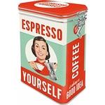 boite hermétique vintage expresso rétro