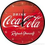 horloge murale coca cola pendule murale décoration publicitaire rouge