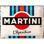 plaque métal rétro martini 40x30