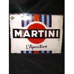 plaque métal martini racing
