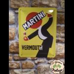 plaque publicitaire métal martini vintage