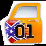 porte miroir drapeau sudiste usa