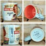 mug vintage céramique roll my eyes