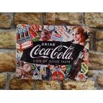 plaque publicitaire métal coca cola
