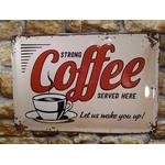 plaque métal déco vintage coffee